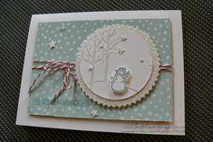 Bastelinna: Stampingirls-Smart-Saturday - Challenge # 57, White Christmas card