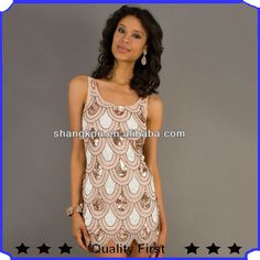 short sleeveless sexy sequins latest fashion design night dress club dress party dress for ladies $10.99~$50.99