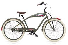 A cruiser bike for a  fighter pilot, it looks like an old school P51!  Tiger Shark 3i | Electra Bikes