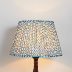 Fermoie is a British maker of fine fabrics and accessories which are designed and printed in England using traditional techniques and natural dyes to create a subtle impression with the depth of a woven fabric. We use Fermoie lampshades throughou Floor Ceiling, Floor Lamp, Room Lights, Ceiling Lights, Blue Lamp Shade, Custom Lamp Shades, Ceiling Light Shades, Fabric Lampshade, Soho House