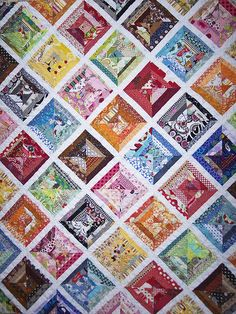 """front of completed """"a little help from my friends"""" quilt 