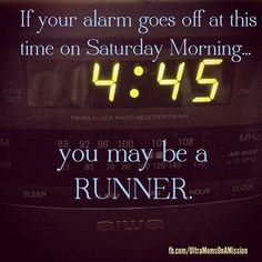 runners are crazy and we love it