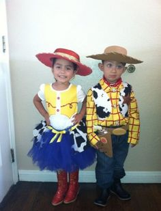 Oct sneaking up on you a bit prematurely this season? Check out these Halloween outfits. Jessie Cow Girl Tutu Halloween Costume by. Jessie Halloween, Toy Story Halloween, Sibling Halloween Costumes, Sibling Costume, Twin Halloween, First Halloween, Halloween Outfits, Halloween Party, Jessie Costumes
