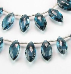 AAA Gorgeous London Blue Topaz Faceted Flat by BeadingHeartCo, $28.50