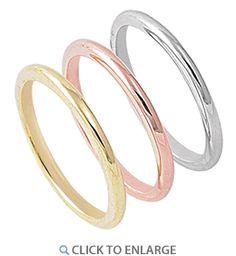 Sterling Silver Three Tone Stackable Rings  - (3 Rings included) - Dreamland Jewelry
