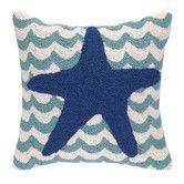 Found it at Wayfair - Starfish in Waves Hook Wool Throw Pillow