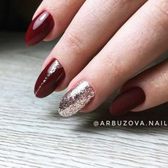 18 Red Nails Designs for Any Occasion ★ Bright Glitter Red Nails Designs Picture 1 ★ See more: http://glaminati.com/red-nails-designs/ #rednails #rednaildesigns