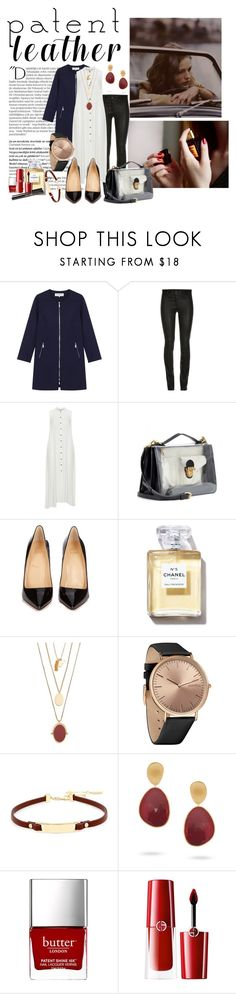 """""""leather details"""" by nicolepuppy ❤ liked on Polyvore featuring Balmain, Gérard Darel, ElleSD, Mat, Marc by Marc Jacobs, Christian Louboutin, Madewell, RumbaTime, Kenneth Cole and Marco Bicego"""