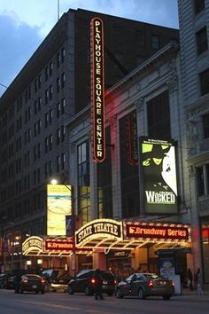 Playhouse Square Center, Cleveland, Ohio. The place to be on a Friday or Saturday night... or any night.