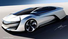 Honda FCEV Concept Design Sketch