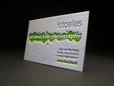 Fun letterpress business card for FOTOALIAS ~ children's photography repinned by www.BlickeDeeler.de