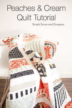Best Quilts to Make This Weekend - Peaches & Cream Quilt - Free Quilt Patterns and Quilting Tutorials - Quilting for Beginners and Sewing Ideas - DIY Baby Quilts, Printables, New and Easy Modern Quilts, Jelly Roll, Quilt Squares, Fat Quarters and Scrap Ideas http://diyjoy.com/free-quilt-patterns-tutorials