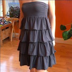 Jcrew Ruffle Tube Top Dress ~ M