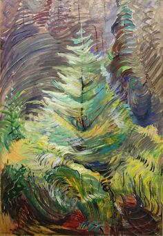 "Sometimes I think I should just start an Emily Carr board. ""Emily Carr, Heart of the Forest, Canadian Painters, Canadian Artists, Impressionist Paintings, Landscape Paintings, Landscapes, Emily Carr Paintings, Tom Thomson, Art Chinois, Group Of Seven"