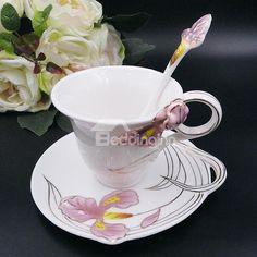 Wonderful 3D Iris Design Ceramic Coffee Cup