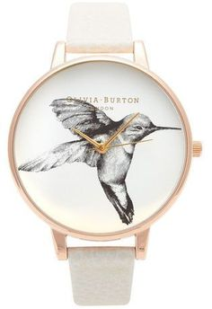 Montre Animal Motif - Hummingbird Mink and Rose Gold OB13AM06 - Olivia Burton