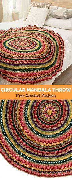 Crochet Mandala Blanket Pattern Colour 33 Ideas For 2019 Crochet Stitches Free, Bag Crochet, Manta Crochet, Crochet Gifts, Free Crochet, Crochet Yarn, Crochet Blankets, Baby Blankets, Simply Crochet