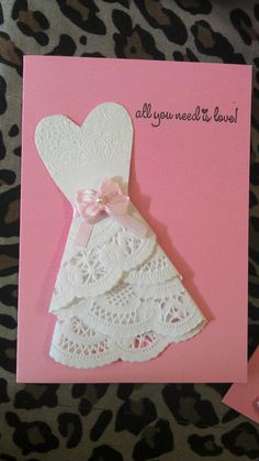 Bridal shower / wedding invite dress doily by BoutiqueDeFiona, $28.00