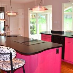 Pink Kitchen Design, Pictures, Remodel, Decor and Ideas