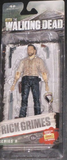 Todd McFarlane toys AMC's THE WALKING DEAD 2014 series 8 RICK GRIMES NEW still factory sealed in the original package. figure size: approx. 5 inches tall condition: Package is in overall great conditi