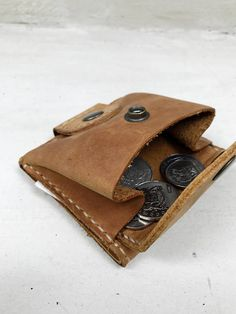 Do you need to carry cards, cash and coins? No problems! My leather wallet has everything; This wallet made of genuine leather Crazy horse in sand color. The type of leather from which this wallet is made is called Crazy Horse, but, despite its literal meaning, it is a kind of high-quality