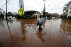 A flood.