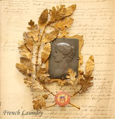 antique French laurel award from the Paris Exposition