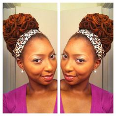 Pipe cleaners were used to curl the hair then locs were place in cute updo