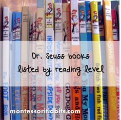 Dr Seuss books listed by reading level