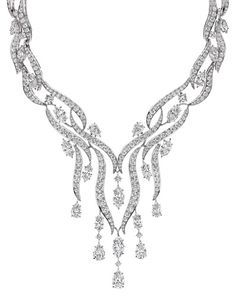 Collier Rivière diamant de la collection Water par Harry Winston.