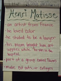 Mrs. Elder's World of Art: 2nd grade Matisse Cutouts