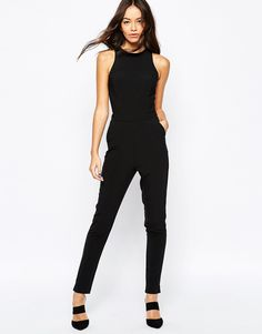 Image 4 of New Look Racer Neck Jumpsuit
