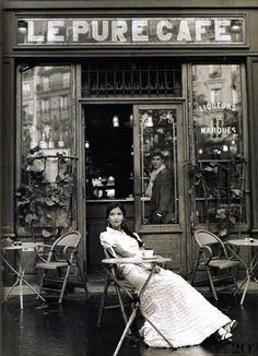 At a cafe.  Engagement or estrangement picture?