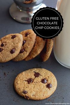 HOMEMADE GLUTEN FREE CHOCOLATE CHIP COOKIES. The Chocolate Chip Cookies are made with homemade almond flour and taste so good!!