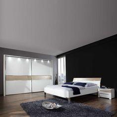 Schlafzimmer braun beige weiße möbel  Schlafzimmer Set Rajada in Weiß Braun | Schlafzimmer Ideen | Pinterest