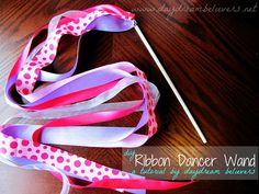 Ribbon streamer wand