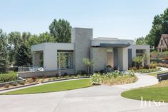 Modern Granite and Stucco Exterior