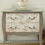 DIY: Wallpaper Your Furniture - Tutorial Included.