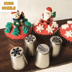 on sale at reasonable prices, buy Christmas Snowflake Tree leaves Collection Cake Decorators Russian Pastry Nozzles Piping Tips for the Kitchen Baking from mobile site on Aliexpress Now! Best Christmas Cookies, Christmas Cupcakes, Christmas Sweets, Christmas Baking, Grinch Christmas, Christmas Foods, Christmas Christmas, Christmas Lights, Christmas Ornament