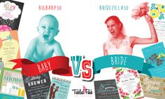BABY vs BRIDE! Who will win in the ULTIMATE INVITATION SHOWDOWN? Pick a side and GET 30% OFF* using either code BIGBABY30 or BRIDEZILLA30 at checkout! We'll announce the champ next week! #discount   *Not combineable with other codes or coupons. Applicable toward entire site excluding Doc Milo brand. Offer good 6/23/14 thru 6/29/14.