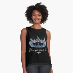 'Queen, Royalty, Daughter of a Great King' Sleeveless Top by Lotus, Meditation, Yoga Posen, Great King, Mothers Day Flowers, Best Leggings, Chiffon Tops, Womens Fashion, Fashion Trends