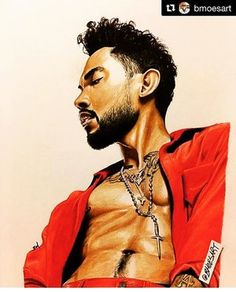 I happen to ❤️ @miguel and this #artwork is #dope  #blackart #miguel #artoninstagram #dopeart #illustration #visual #mood #playlist   #Repost @bmoesart ・・・  @miguel #bmoesart  Word of advice to artists out there.  Don't be afraid to step out of your comfort zone.  Not even a couple years ago i was so scared to experiment with color in my pieces and when i did it was sparingly.  I just didn't wanna leave my comfortable wor