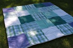 Sew towels together to make this huge beach blanket. Add a vinyl tablecloth to the back: blocks sand, doubles as tablecloth. Road trip must-have!