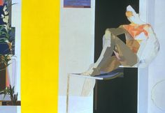 Myles Murphy, Figure with Yellow Foreground, 1974