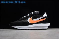 new arrival 5fa31 56f4d 2018 New Mens Sacai x Nike LDV Waffle Sneakers For Sale Black White Orange