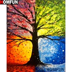 Tree painting seasons art projects 54 ideas for 2019 Easy Canvas Painting, Simple Acrylic Paintings, Abstract Paintings, Painting & Drawing, Canvas Art, Art Paintings, Painting Abstract, Acrylic Canvas, Colorful Paintings