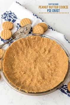 This easy no-bake Peanut Butter Cookie Crust is made with just 2 ingredients: peanut butter cookies and butter. It makes the PERFECT no-bake pie recipe!