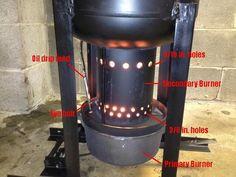 Drip oil burner