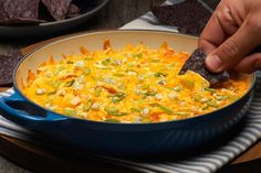 This chicken dip will be perfect to start the conversation at your next gathering. It serves a large group so remember to also invite all your friends!