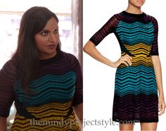 """Mindy's zigzag and polka dot dress from """"The Departed""""!"""